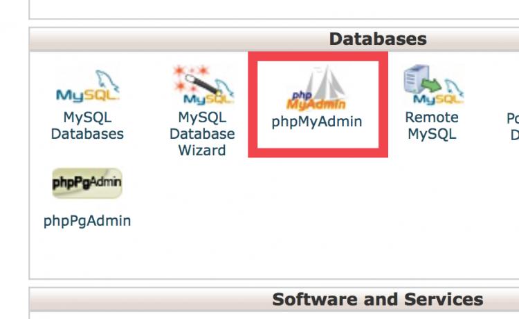 एक बार जब आप अपने cPanel में हों, तो डेटाphpMyAdmin-digital-ranger